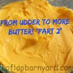 Making butter in a mixer