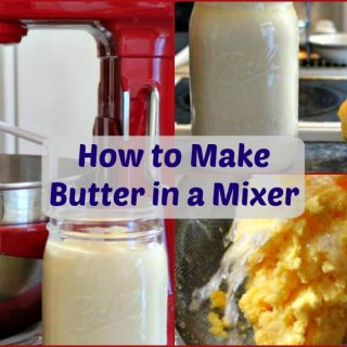 How to make butter in a mixer.