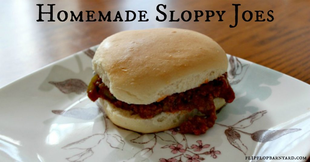 Homemade sloppy joes with real food ingredients