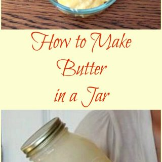 How to make butter in a jar.