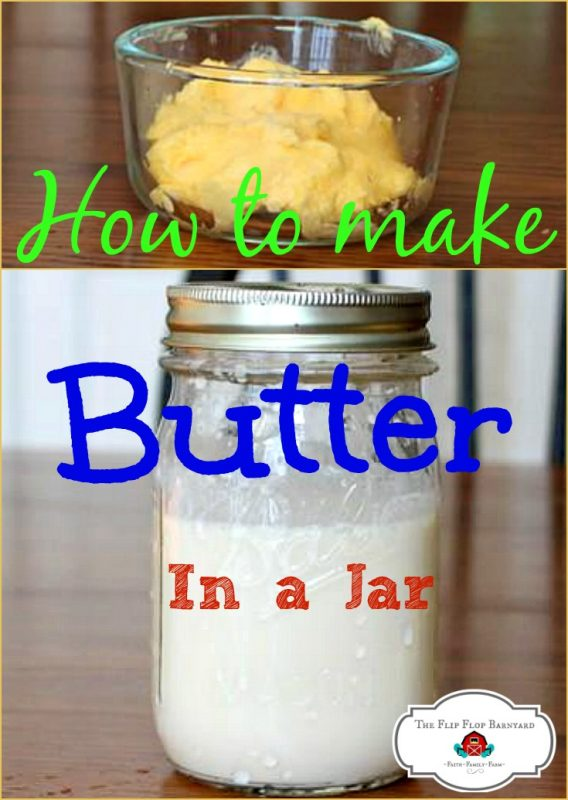 Making butter at home is a fun little projects. Kids love making butter in a jar. Learn how to make butter in a jar in just a couple of easy steps.