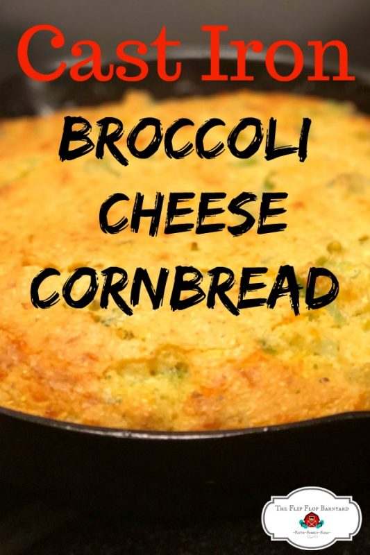 Cast Iron Broccoli Cheese Cornbread. What happens when you combine broccoli, cornbread, and cheese then cook them in cast iron? Only one of the most delicious foods you'll ever eat.