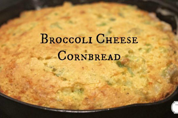 Cast Iron Broccoli Cheese Cornbread