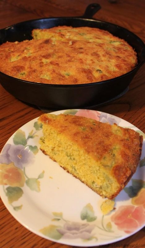 Real Food Broccoli Cheese Cornbread Recipe | The Flip Flop Barnyard