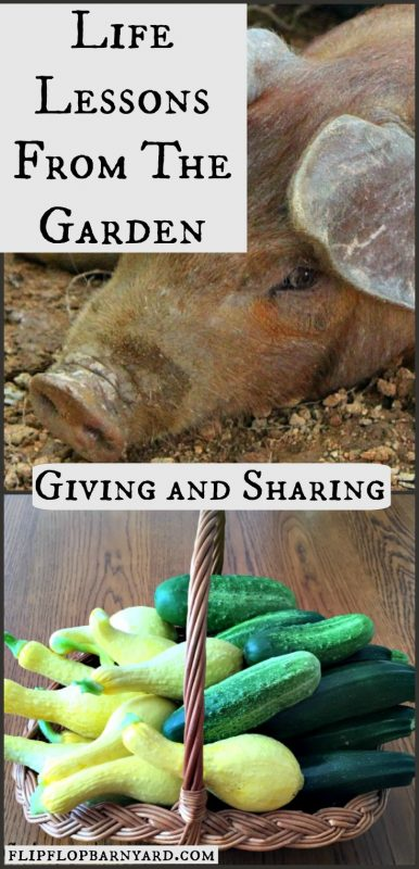 Learning to give and share is one of the great lessons learned in the garden.
