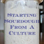 Starting sourdough from a culture.