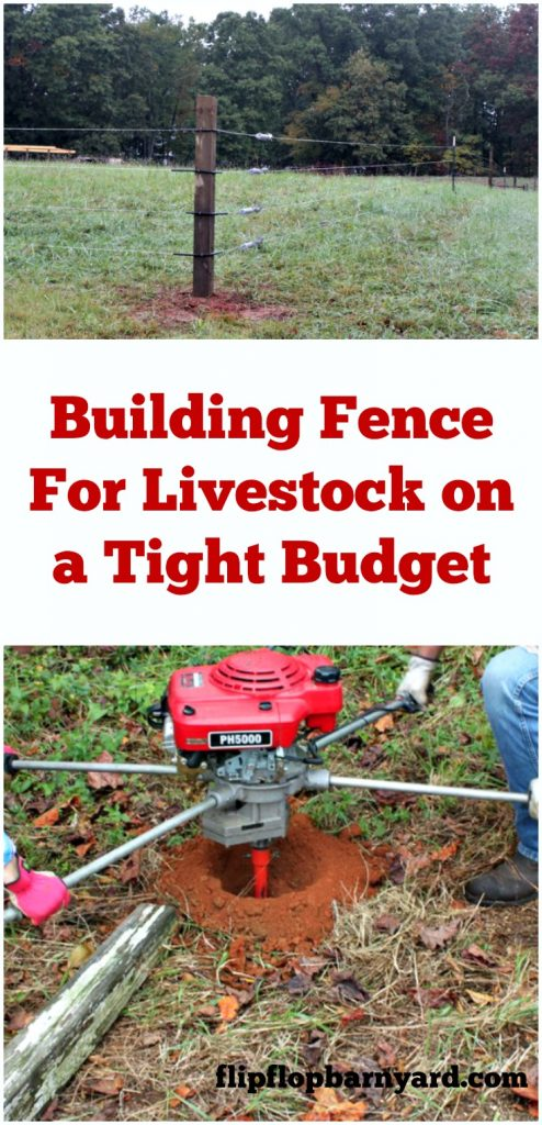 Building fence for livestock
