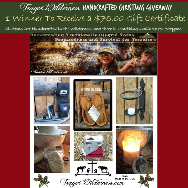 Trayer Wilderness Handcrafted Christmas Giveaway