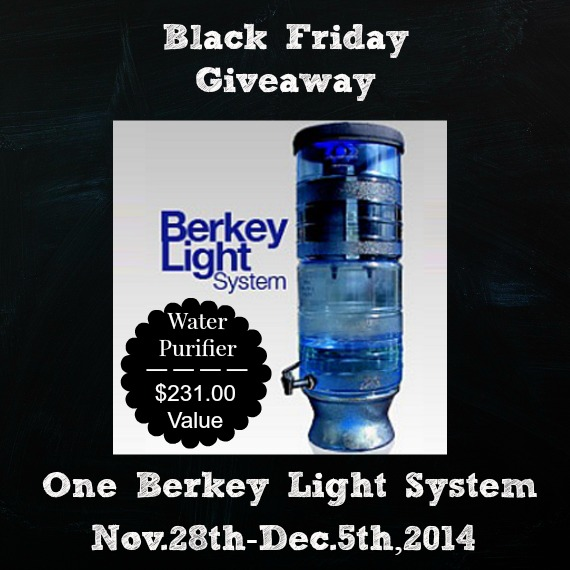 Black Friday Berkey Light Giveaway