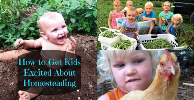 How to get kids excited about homesteading.
