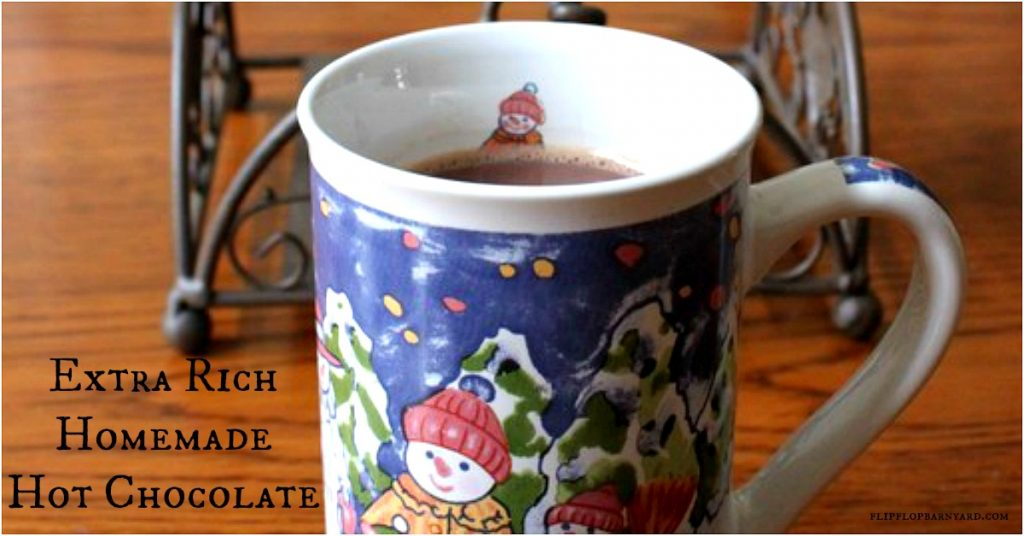 Homemade hot chocolate for those brisk days.