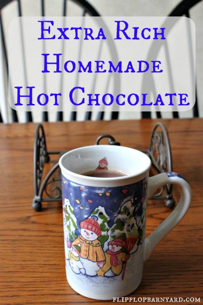 Extra Rich Homemade Hot Chocolate