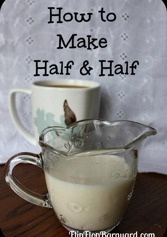 How to Make Half and Half