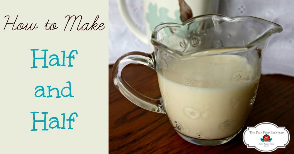 How to make half and half at home. DIY half and half is so easy to make.