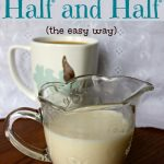 How to make half and half. Making half and half at home is so easy. There's nothing like a big cup of coffee with delicious homemade half and half cream in it. DIY half and half is the best!