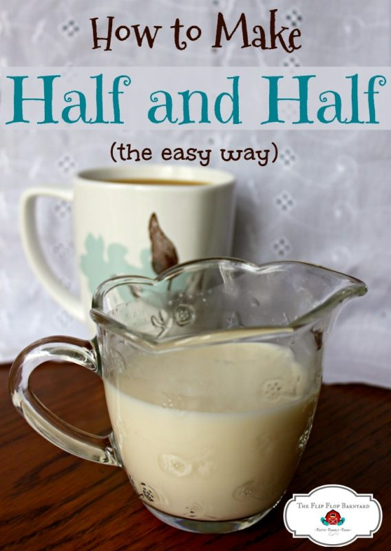 How to make half and half. Making half and half at home is so easy. There's nothing like a big cup of coffee or tea with delicious homemade half and half cream in it. DIY half and half is the best!