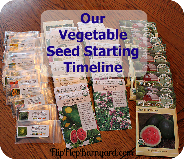 Our Vegetable Seed Starting Timeline Zone 7B