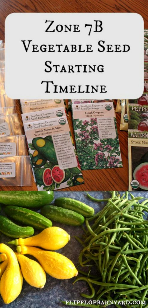 Zone 7B Seed Starting Guide. A gardening guide for starting seeds in gardening zone 7B.