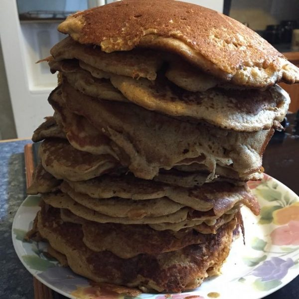Soaked Whole Wheat Pancakes | The Flip Flop Barnyard