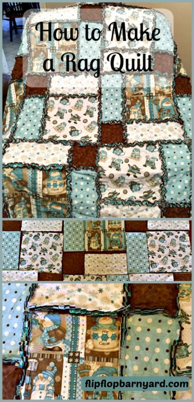 How to make a rag quilt. A simple sewing project for an easy to make quilt. Rag quilting is fun and easy.