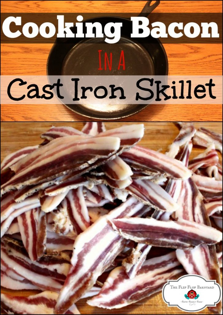 Cooking bacon in a cast iron skillet because life is better with bacon.