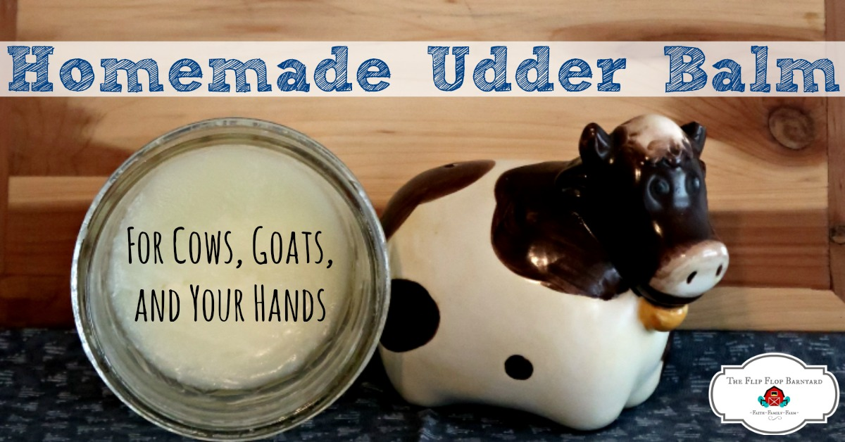 All natural, homemade udder balm. You dairy animals will love you for using this udder balm on them. This is also great for chapped hands and dry skin. Everything in it is 100% natural and safe.