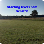 Starting Over From Scratch
