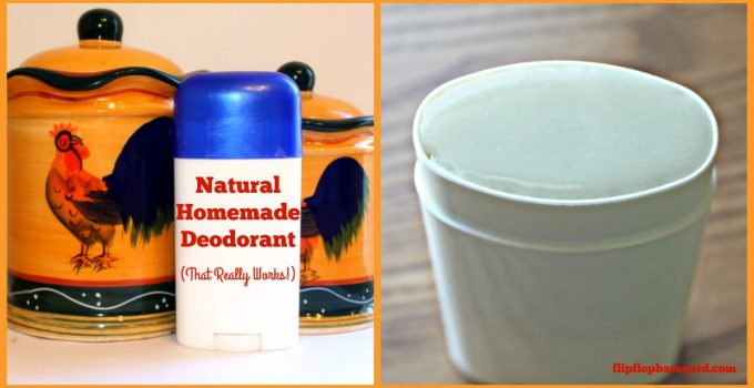 Natural homemade deoderant