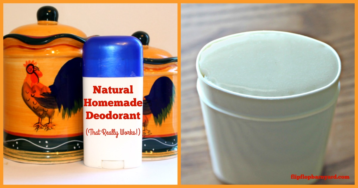 Natural homemade deoderant