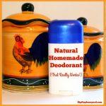 Natural Homemade Deodorant
