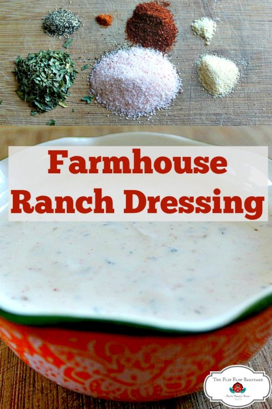 Salad dressing is a must and homemade salad dressing is even better. This is the best farmhouse style ranch dressing. Homemade ranch dressing from scratch with real ingredients.