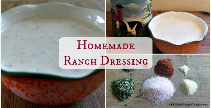 The best homemade ranch dressing from scratch.