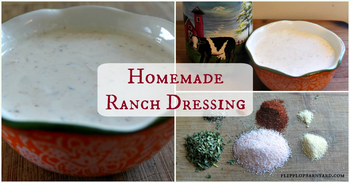 Homemade Farmhouse Ranch Dressing