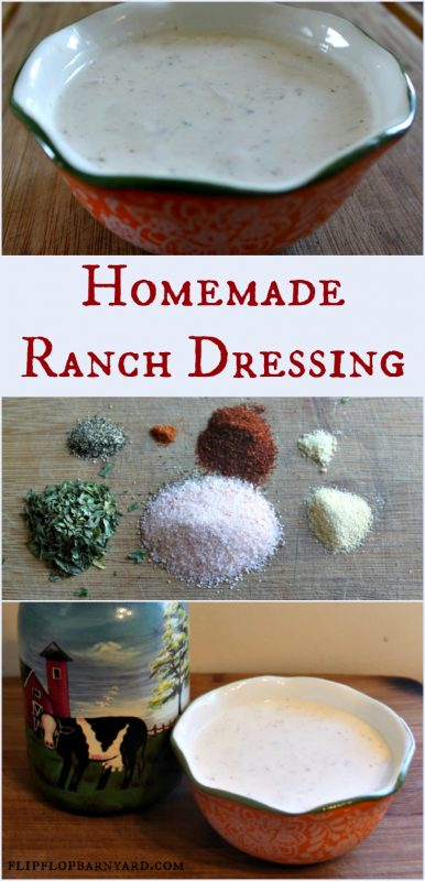 Homemade farmhouse ranch dressing recipe the flip flop for Easy ranch