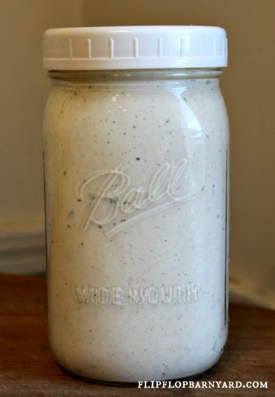 This is the best farmhouse style ranch dressing. Homemade ranch dressing from scratch with real ingredients.