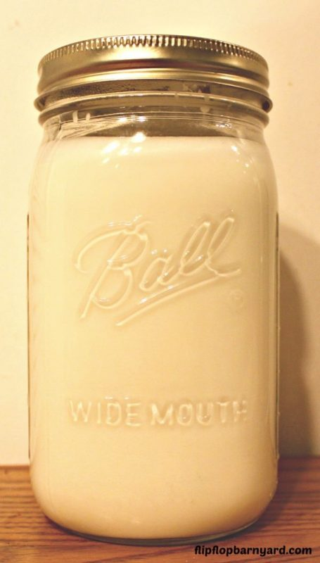 Raw milk in a jar.