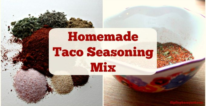 Homemade taco seasoning mix. This one's definitely a crowd pleaser.