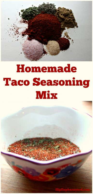 Homemade taco seasoning mix. This one is definitely a crowd pleaser.