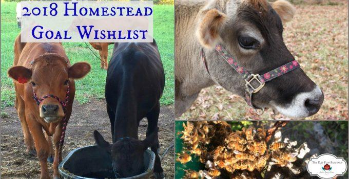 2018 Homestead Goal Wishlist