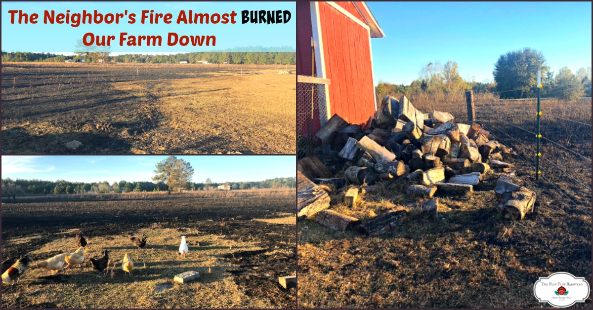 The Neighbor's Fire Almost Burned Our Farm Down