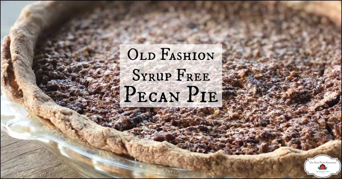 The perfect completely syrup free pecan pie recipe. A homemade pecan pie without corn syrup.
