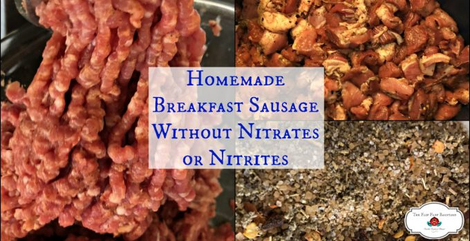 This homemade breakfast sausage seasoning blend is perfect without any nitrates, nitrites, MSAG, curing salt, or any other additives. Just real ingredients for delicious sausage.