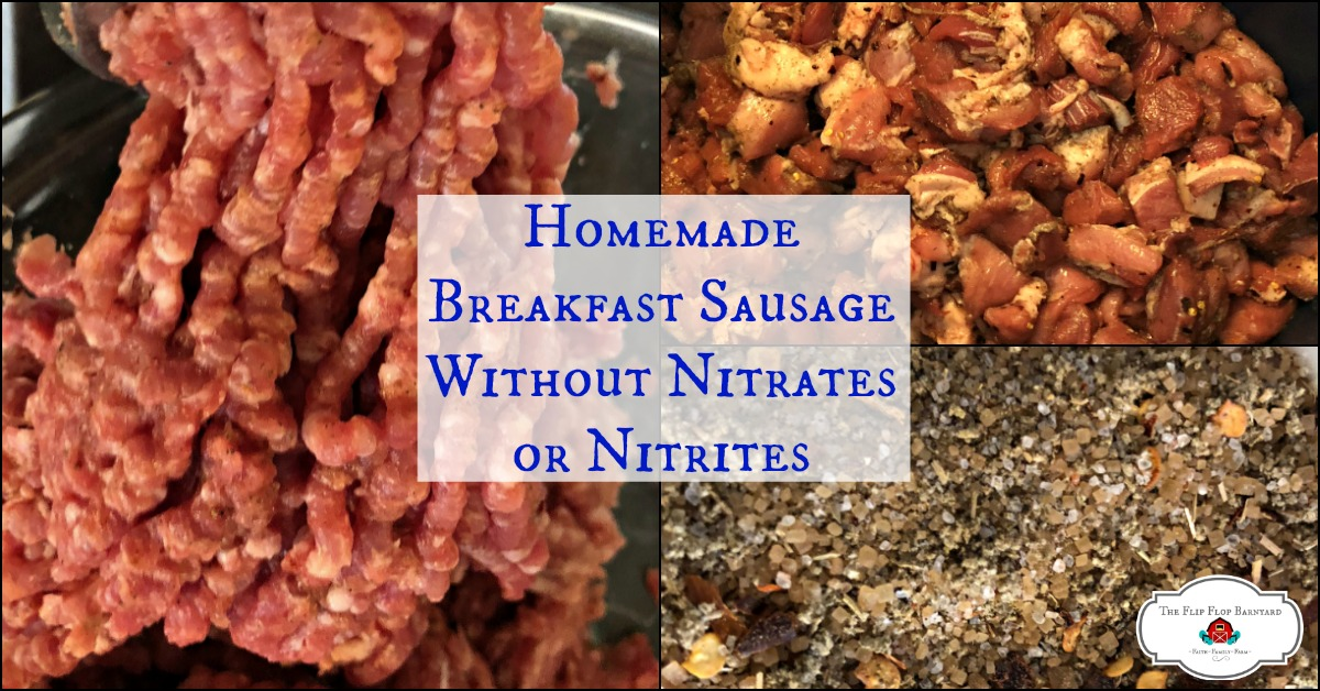 Homemade Breakfast Sausage-Without Nitrates or Nitrites