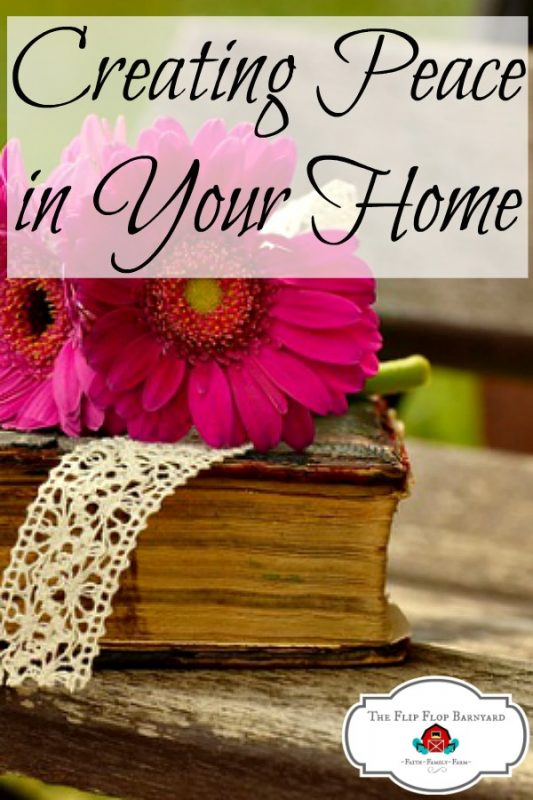 How we create peace in our home. When you have an atmosphere of peace in your home, life is so much better. Cultivating peace in our homes and hearts is a wonderful thing to do.