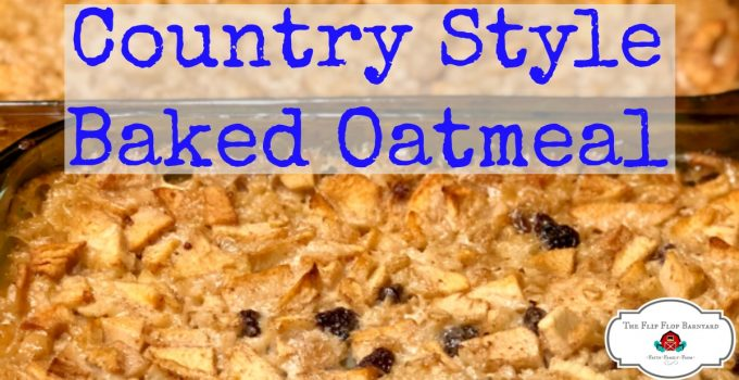 Homemade Baked Oatmeal is delicious and nutritious. This oatmeal is soaked overnight to bring out the best. We add in raisins and apples for even more flavor. This is a top notch breakfast of baked oatmeal.