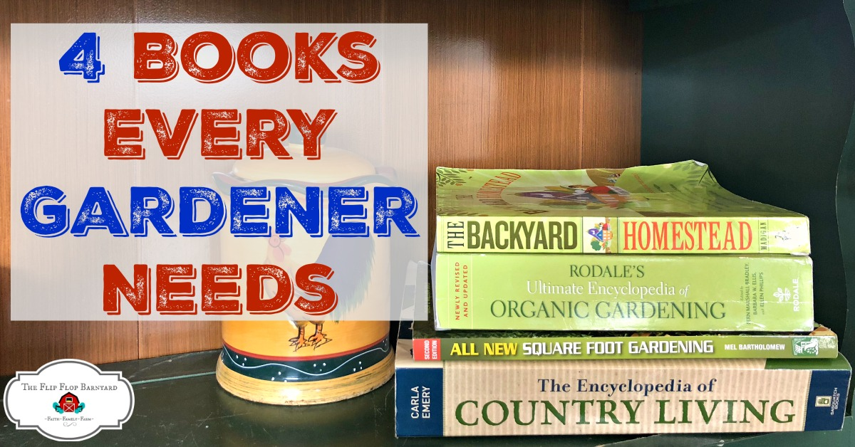 4 Best Organic Gardening Books out there. These are the top books that every gardener needs in their garden library.