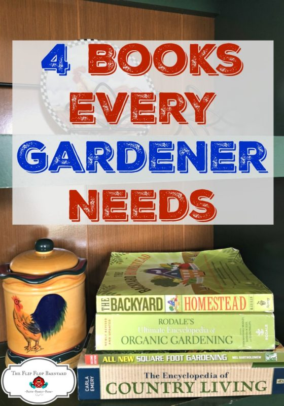 4 Best Books on Organic Gardening out there. These are the top books that every gardener needs in their garden library. It's great to have how to and reference books on hand when gardening.