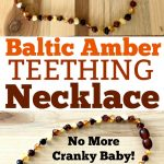 photo collage of a Baltic Amber Necklace for Teething