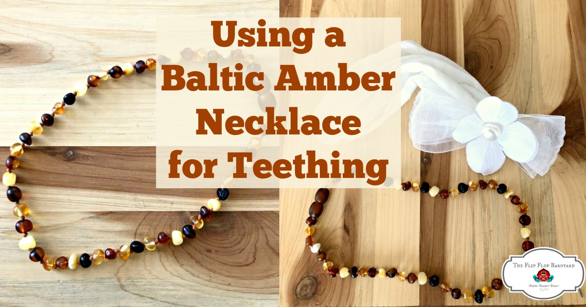 Using a Baltic Amber Necklace for Teething