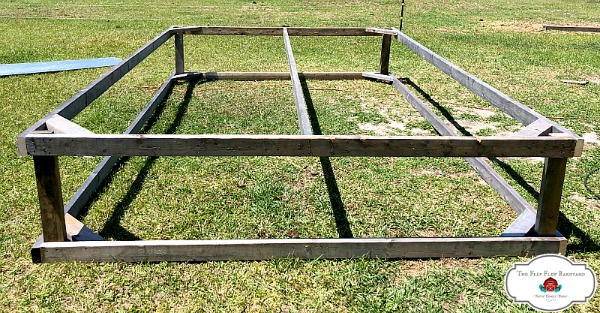 Completed chicken tractor frame